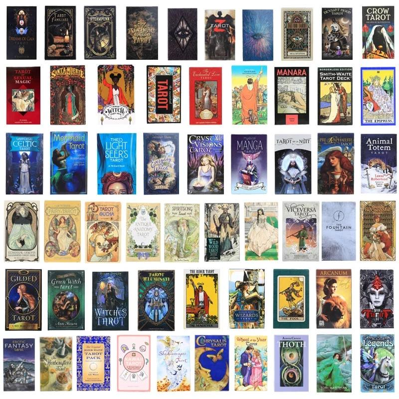 200 стиль Tarot Cards Игры Oracle Golden Art Nouveau The Green Witch Universal Celtic Thelema Steampunk Доска Доска