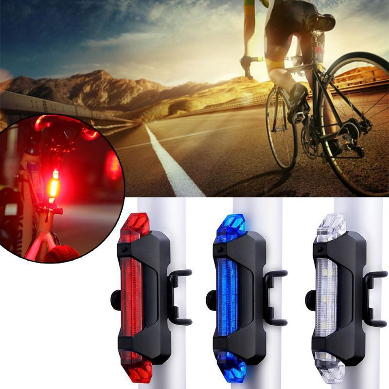 Bicycle Light Waterproof Rear Tail Light LED USB Rechargeable Mountain Bike Cycling Taillamp Safety Warning Light TSLM2 867 Z2