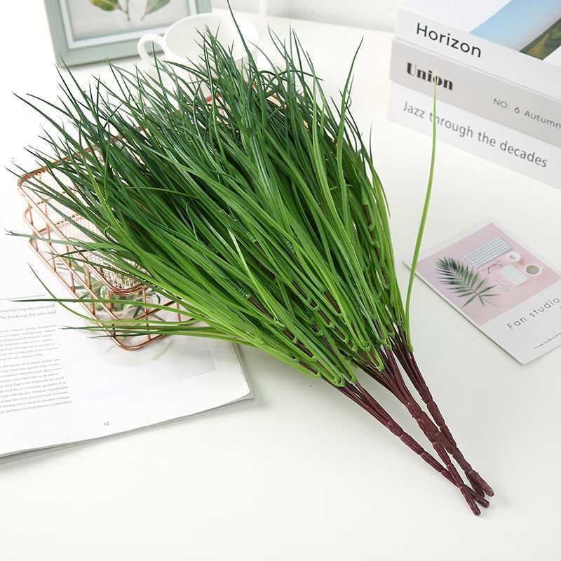 Herbe en plastique plantes artificielles herbe verte plastique plante fleurs décoratives jardin jardin décoration artificielle fausse plante