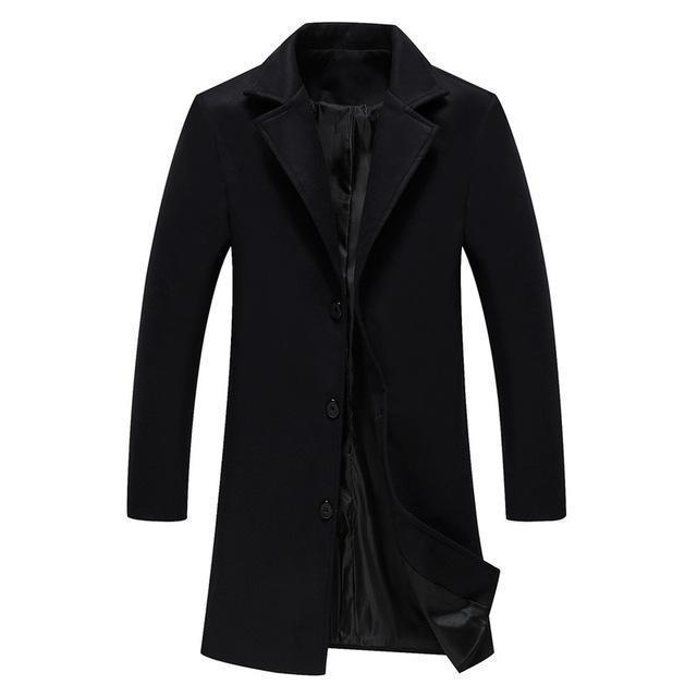 Kadın Trençkotlar Erkek Palto Rahat Tek Göğüslü Katı Slim Fit Uzun Siper erkek Sonbahar Kış Ceket Woolblend Rüzgarlık YFIB