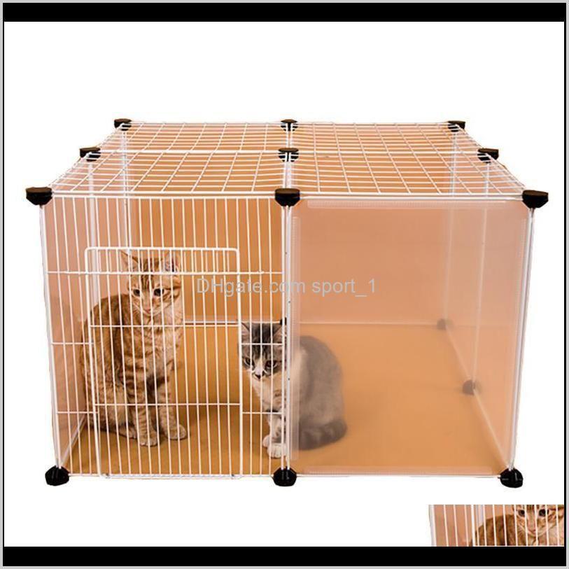 Casas Carreras Casas DIY Gatos Jaula Playpens Gate Transporte Cerca de Hierro Pequeñas Mascotas Ejercicio Entrenamiento Aviario Para Perros Perritos Kennel MJ3CW