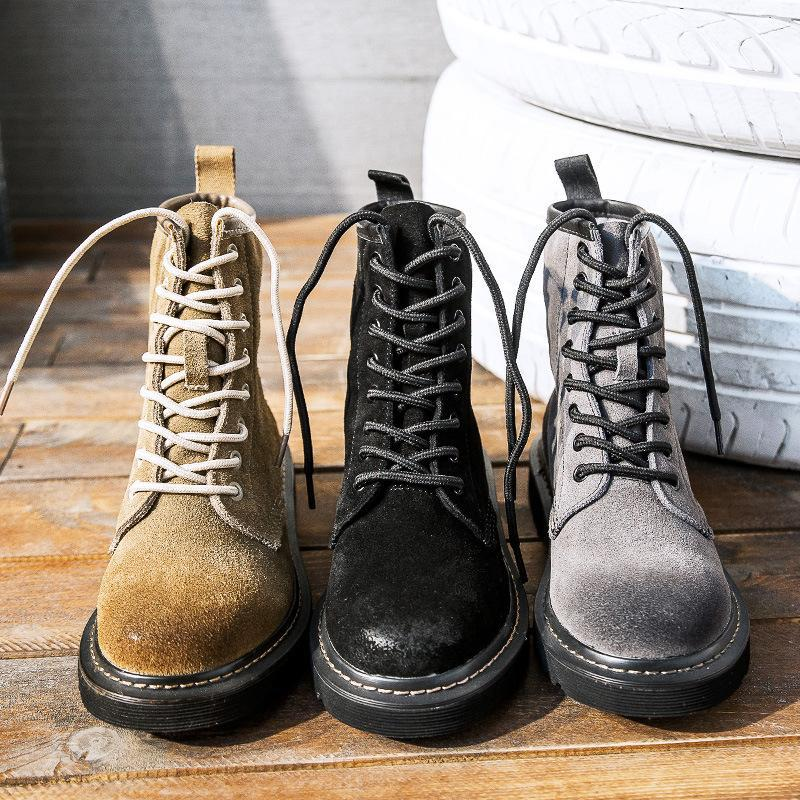 Boots 2021 Fashion Cow Leather Women Motorcycle Punk Female Shoes Autumn Thick Heel Ankle