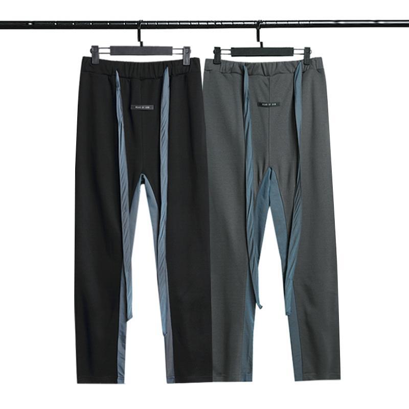 2021 Essentials Pantolon Sis Flama Casual Kadın İpli Hip Hop Sokak Pantolon Gevşek Moda Erkekler Tanrı Korkusu Erkek Düz Renk Boy Severler Spor Pantolon