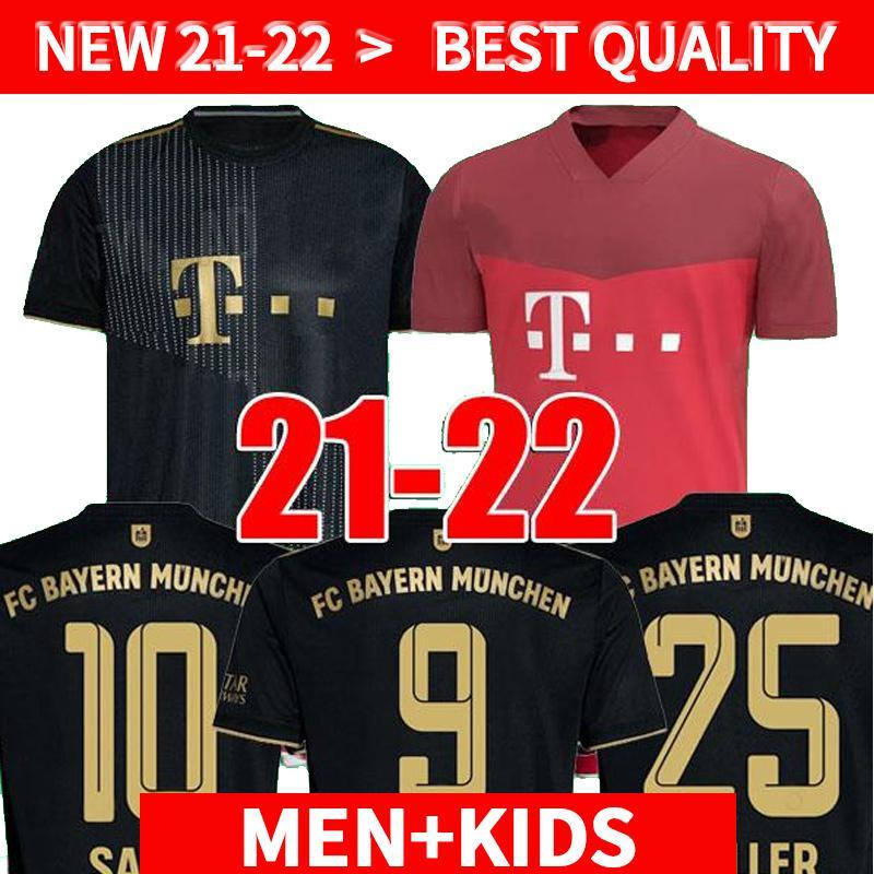 21 22 Bayern München COUTINHO Spielerversion Fussball Jersey Lewandowski Müller Hernandez 2021 2022 Fußballhemden Männer + Kinder Kit Jubiläum Mellige