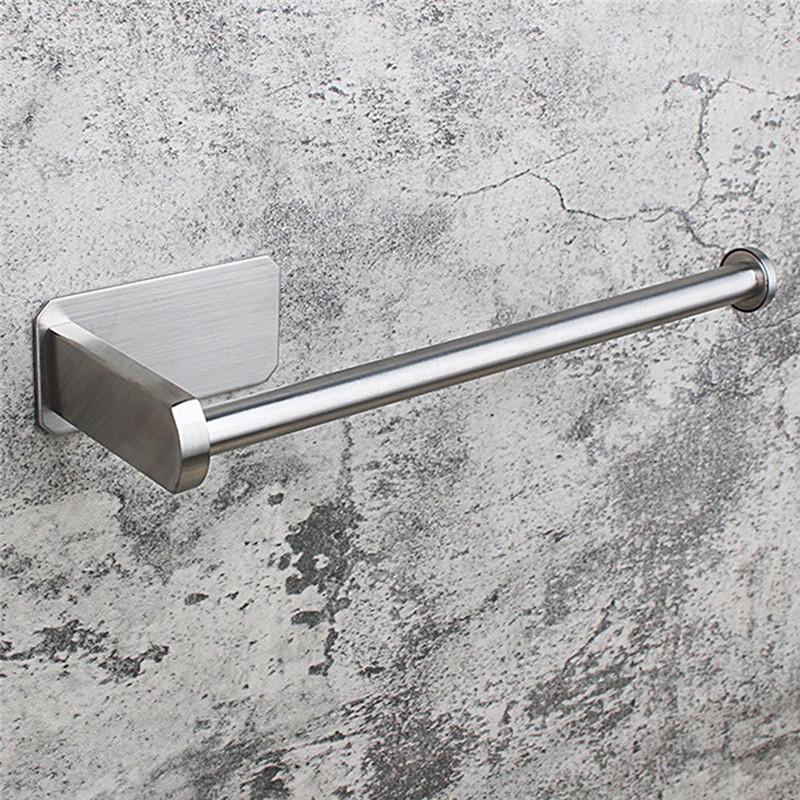 ورقة منشفة رف مستقيم نحى الفولاذ المقاوم للصدأ رفوف الحمام تخزين الحمام