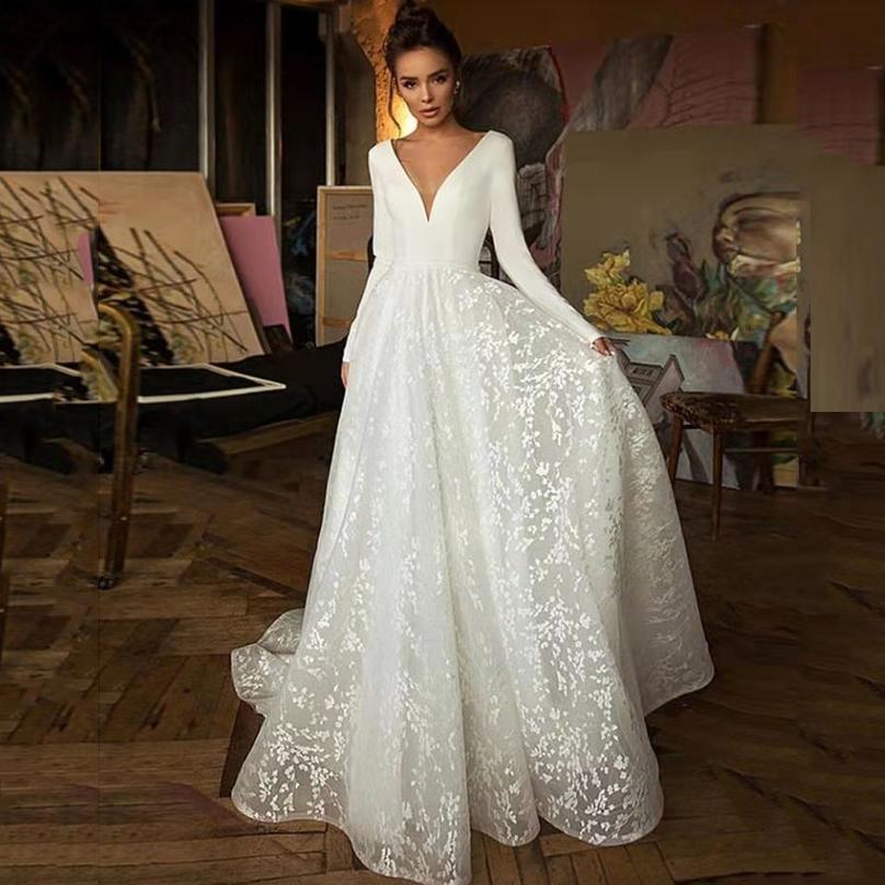 Старинные с длинными рукавами линия кружева свадебные платья свадебные примиренные свадебные платья свадебные дворы.
