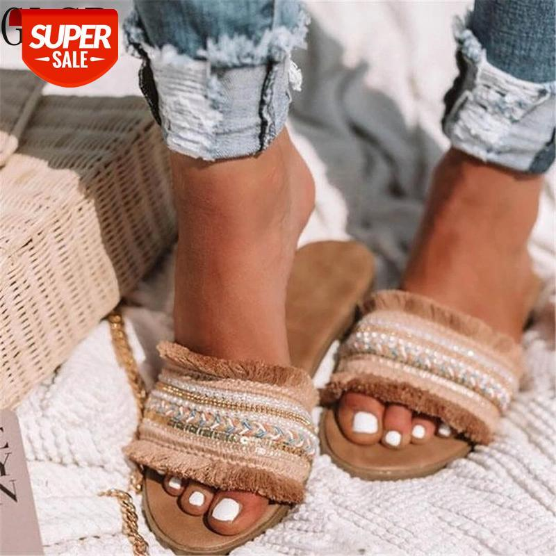 Women slippers 2020 summer new Rome Retro sandals flat casual shoes female slip on slides woman plus size Sandalias mujer #XY6n
