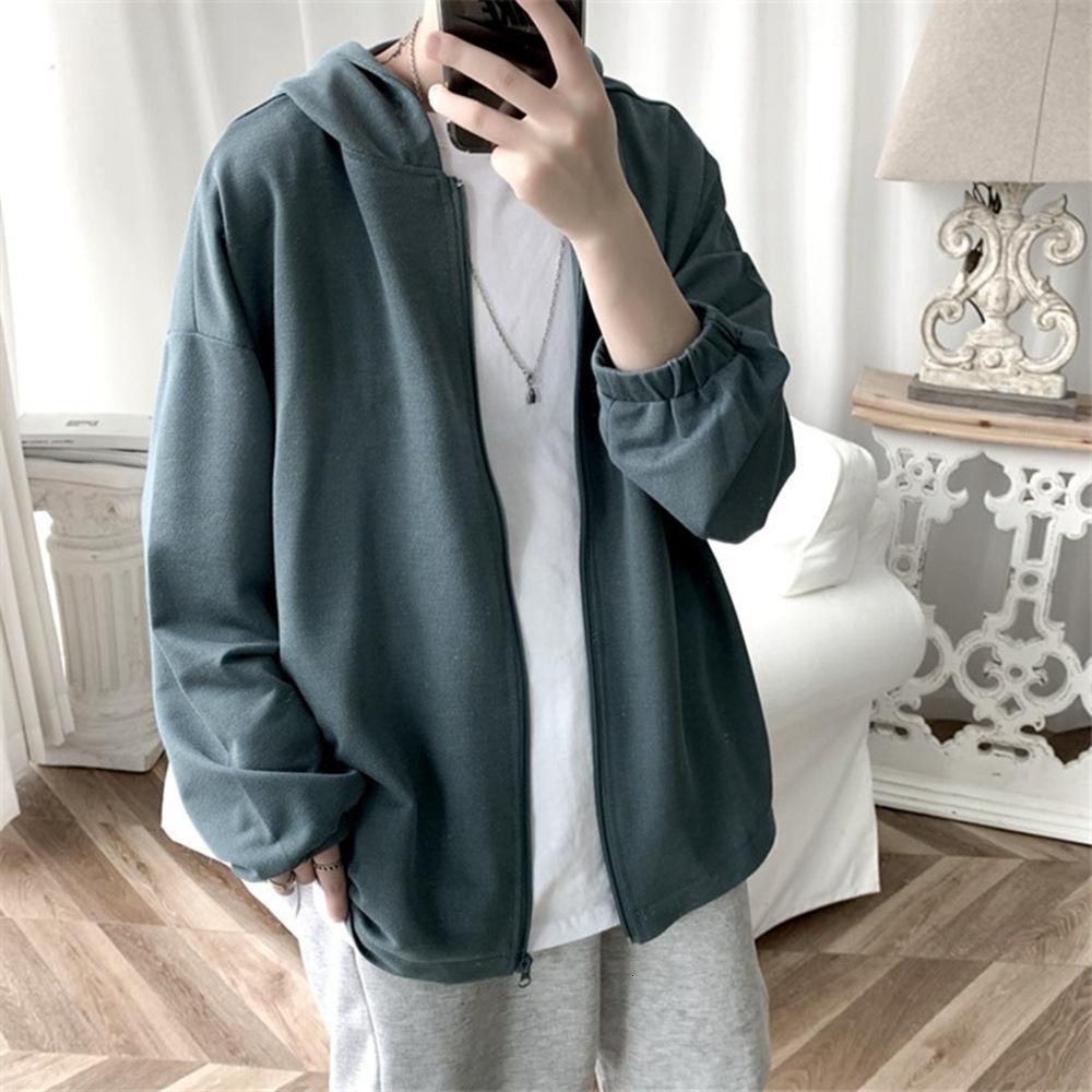 Vestes et veste de mode coréenne pour hommes de sport lâche cardigan cardigan à capuche printemps pull automne casual top