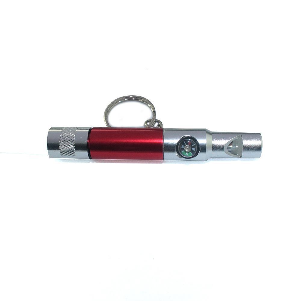 3 в 1 свисток Компас Светодиодный фонарик Интегрированное оборудование для выживших на открытом воздухе EDC Adventure Survival Multifunctional Tools Camping HW465