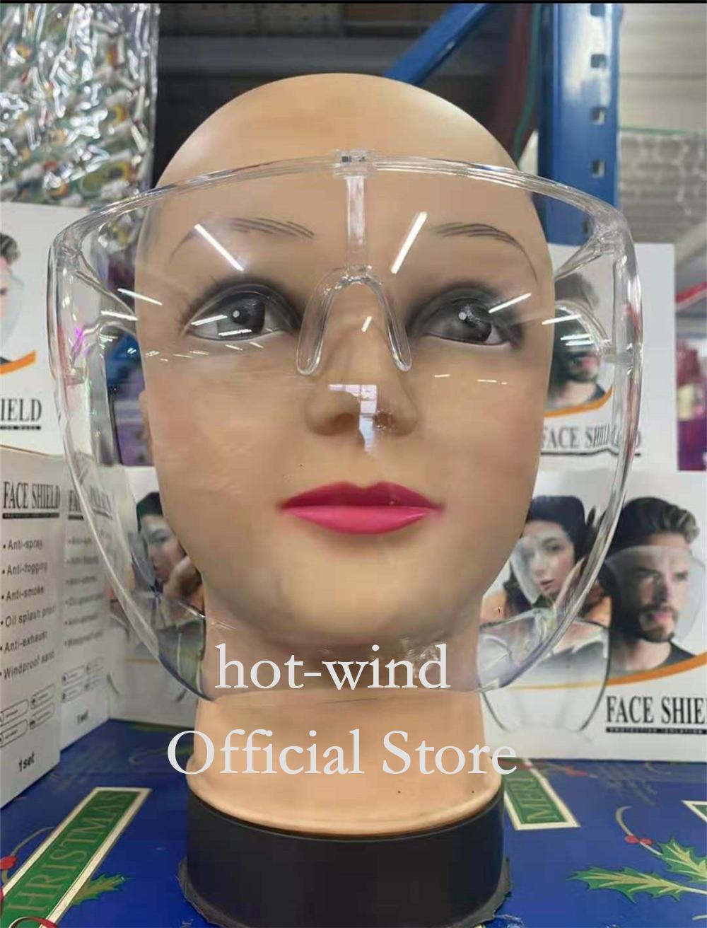 Nouveau!!! Bouclier transparent alternatif radical clair et respirateur PC Anti-Fog masque anti-pulvérisque de protection anti-pulvérisateur Verre Verre Verre rapide