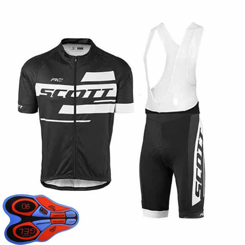 Jersey de ciclismo para hombre Juego de ciclismo 2021 VERANO SCOTT EQUIPO CAMISETA CORTE CAMISETA BIB pantalones cortos de babero Trajes de ropa de carreras de secado rápido Tamaño XXS-6XL Y21041081