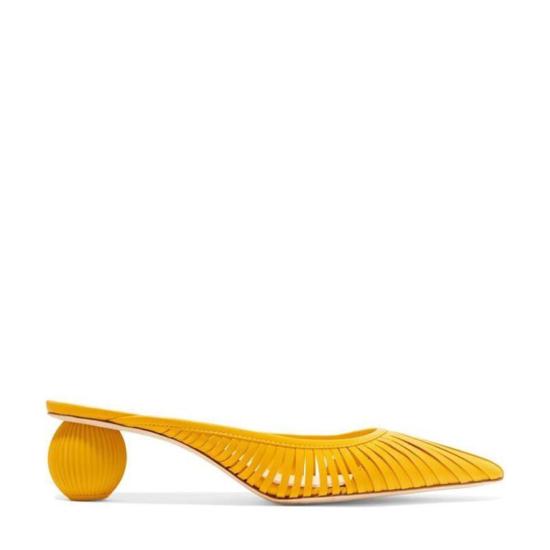 Dress Shoes Fashion Sandals Women Strange Heel Transparent Strap Pointed Toe Ladies Mules Summer Gladiator Sandal Casual Slides Mid