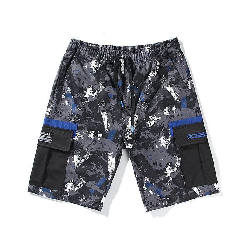 Männer Sommer Strand Fracht Lose Kordelzug Mid Taille Entspannte Herren Kurze Hosen Casual Homme Shorts