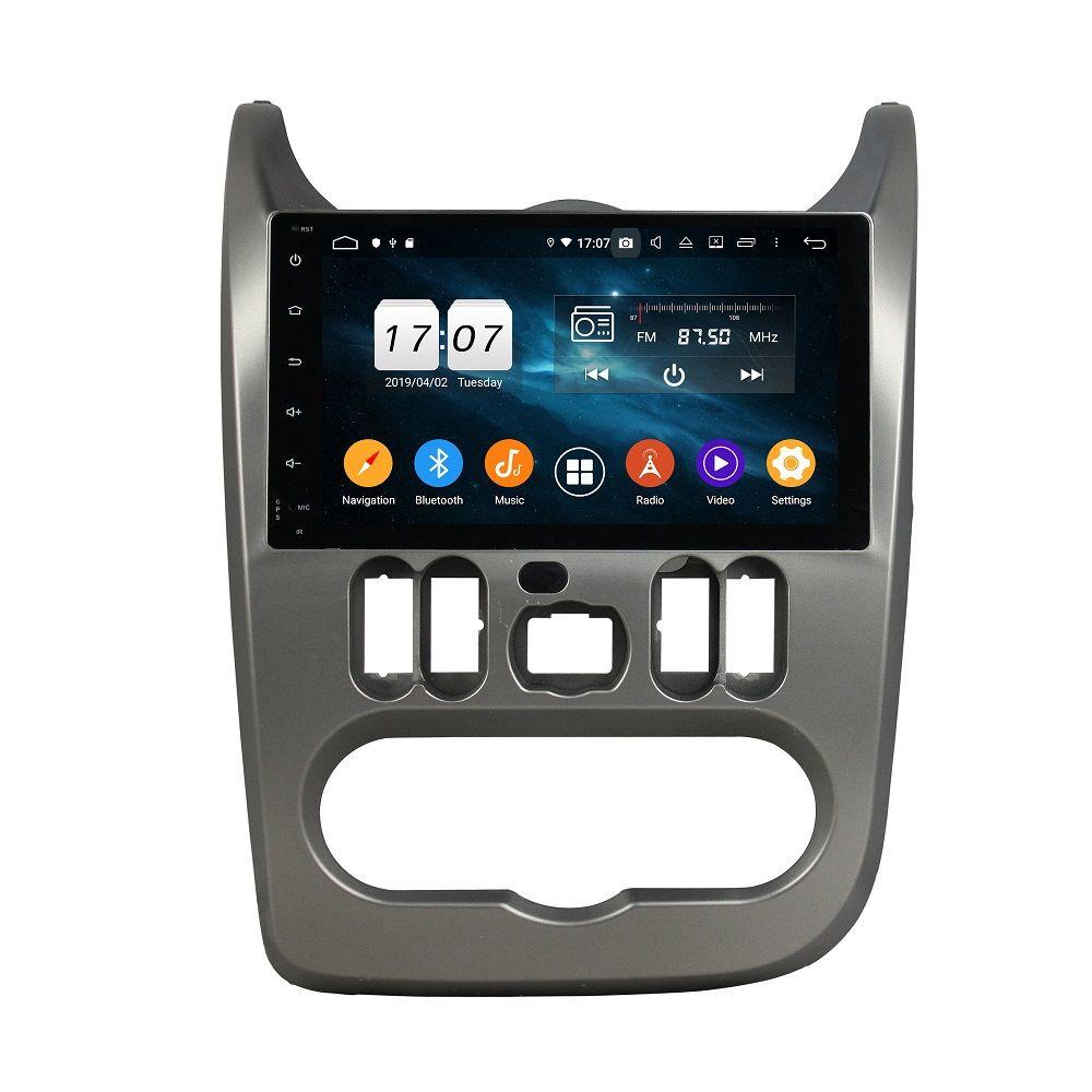 "Carplay Android 자동 1 DIN 9 ""PX6 Android 10 자동차 DVD 플레이어 Renault Logan Sandero Duster 2015 2016 DSP 스테레오 라디오 GPS 네비게이션 블루투스 5.0 WiFi"
