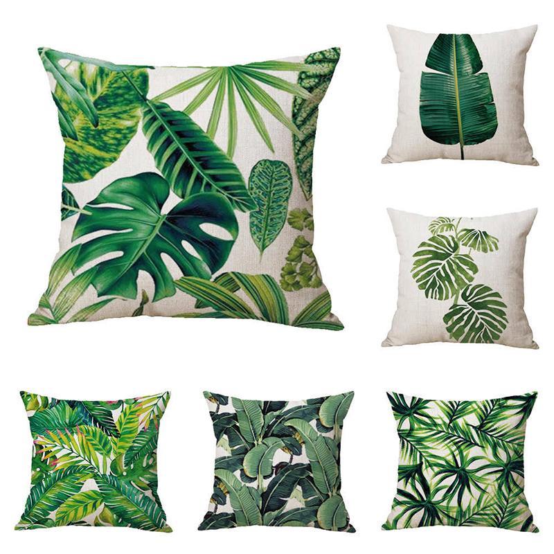 Yatak Dekoratif Atmak Yastıklar Tropikal Bitkiler Yastık Kapak 45 cm Polyester Yastık Dekorasyon Yastık Kılıfı Yastıkları Ev Dekor My-Inf0060