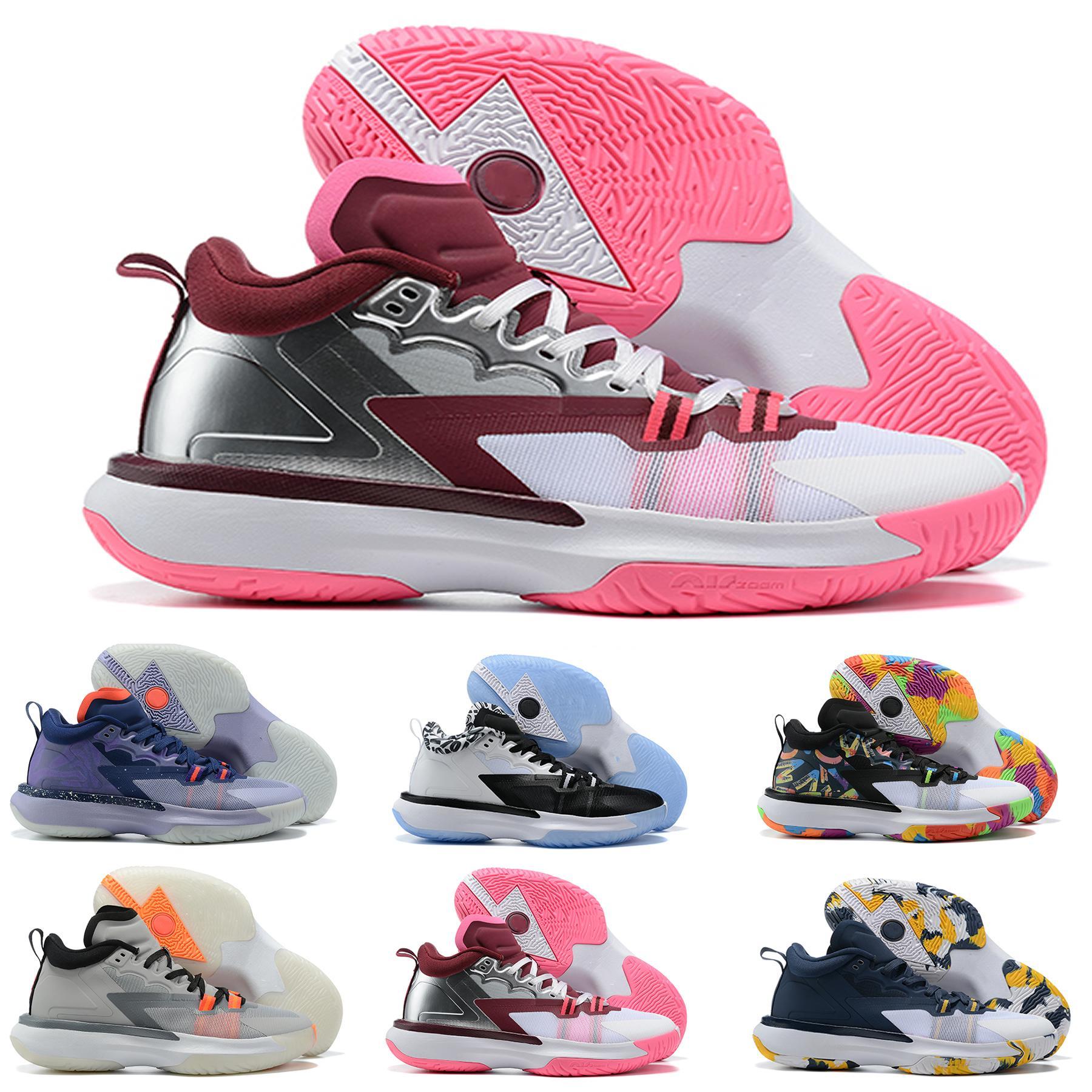 صهيون 1 PF الشباب كيد الرجال النساء أحذية كرة السلة للأبيض والأسود قوس قزح متعدد الالوان بنات بوي الرياضة أحذية رياضية الولايات المتحدة 7-12