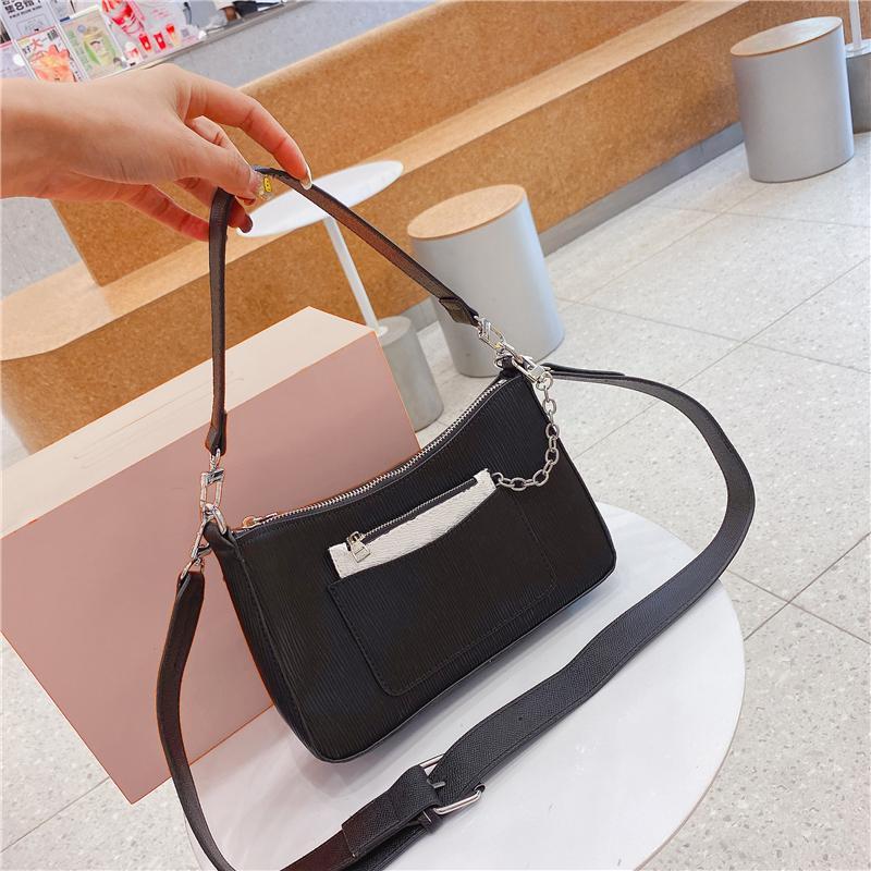 حقائب الكتف مصمم حقيبة أزياء المرأة مع حقيبة يد عملة محفظة السيدات في 4 ألوان حزام عرض crossbody