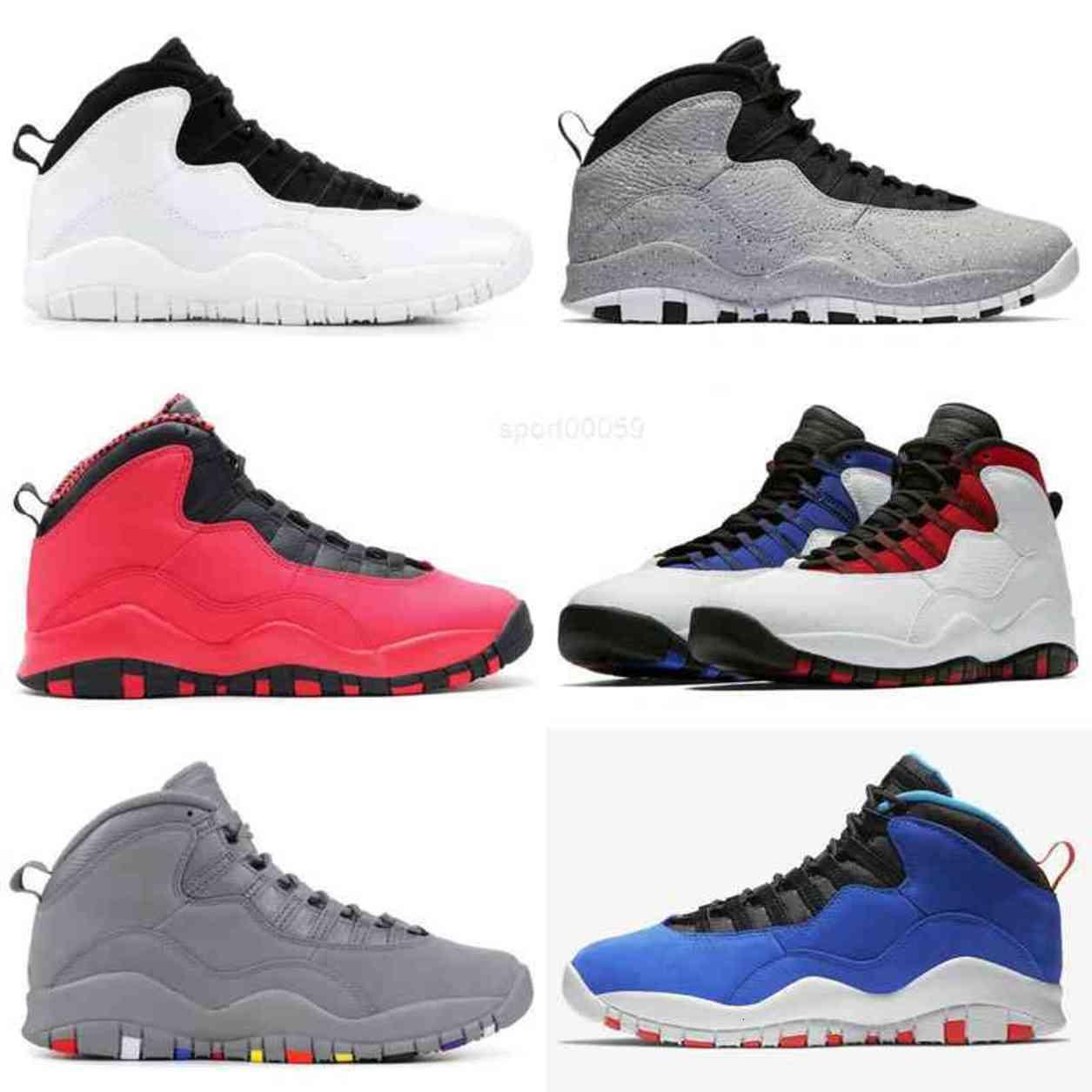 10s الرجال أحذية أطفال jumpman 10 أورلاندو تينكر المتسابق الأزرق الأسمنت ويسبروك أنا تعود أسود أبيض مدرب رياضة رياضية
