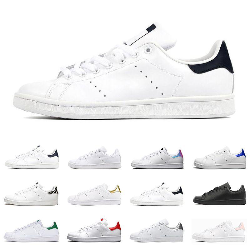 2021 Stan Smith shoes Hommes Femmes Baskets Plates Vert Noir Blanc Bleu Marine Oreo Rainbow Mode Hommes Formateur des chaussures De Sport En Plein Taille 36-44
