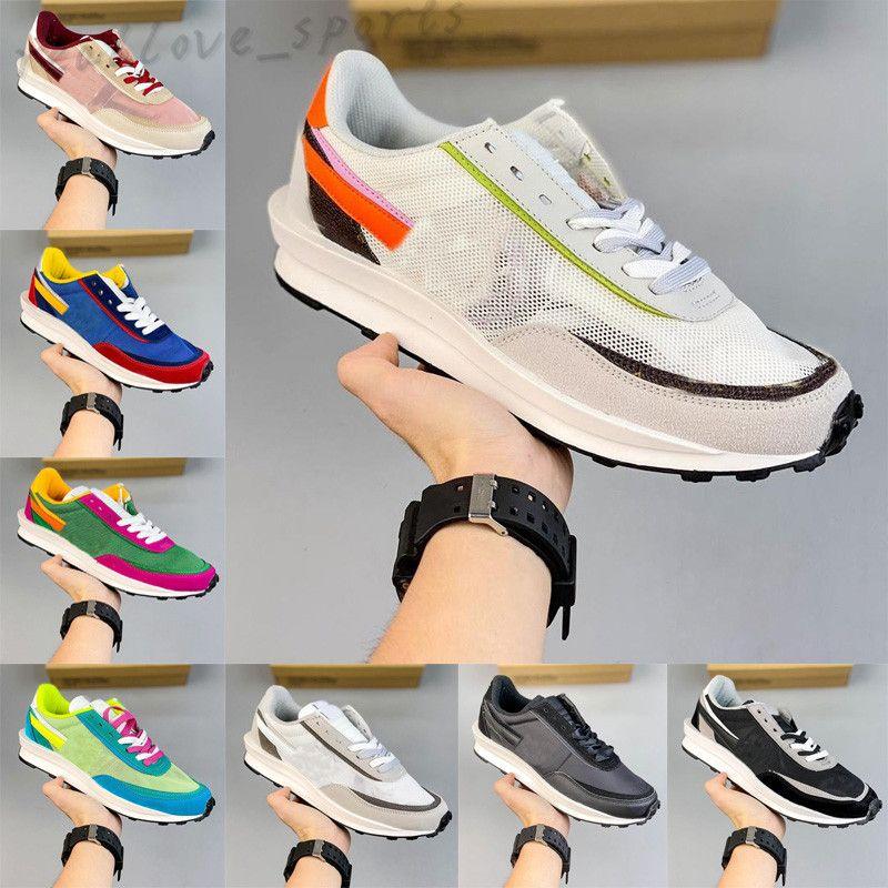2021 Runnin Shoes LD Waffle Waffle Men Sneakers Dark Iris Sésamo Void Azul Chunky Dunky Nylon Blanco Blanco Jogging Deportes Sneaker TA01