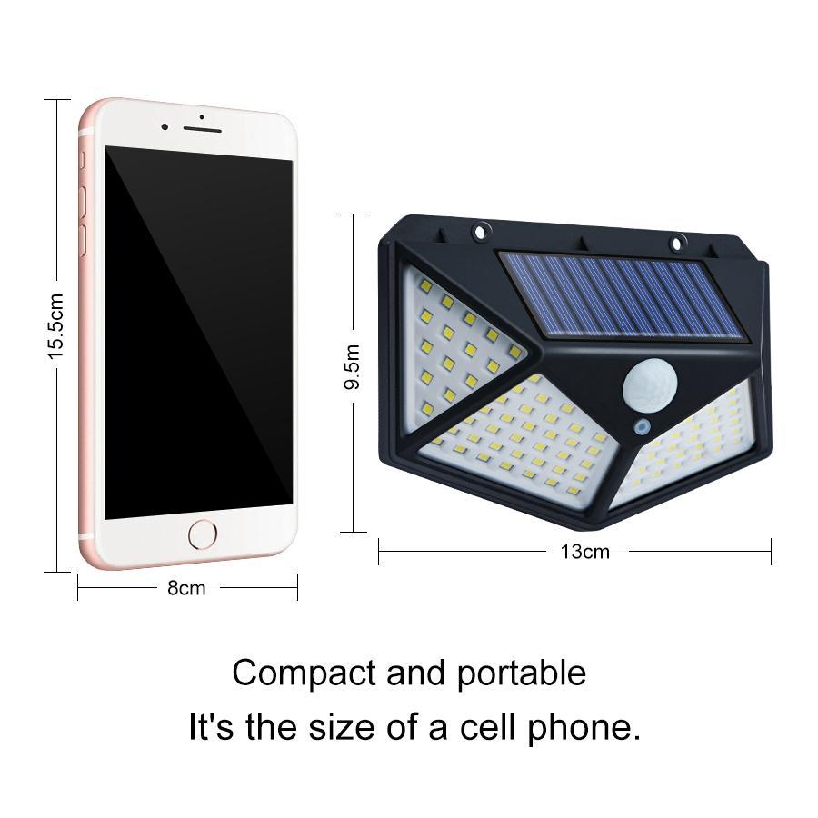 114 LED Luzes Solares Ao Ar Livre Pir Pir Motion Sensor Garden Lâmpada Solar Luzes Security Dwaterproof Water Lighting