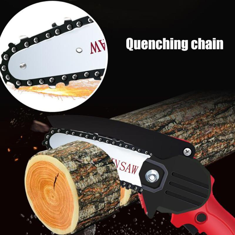 الأدوات اليدوية تشذيب كهربائي المنشار القابلة لإعادة الشحن المنزلية قوية صلابة المحمولة بيد واحدة تسجل سلسلة