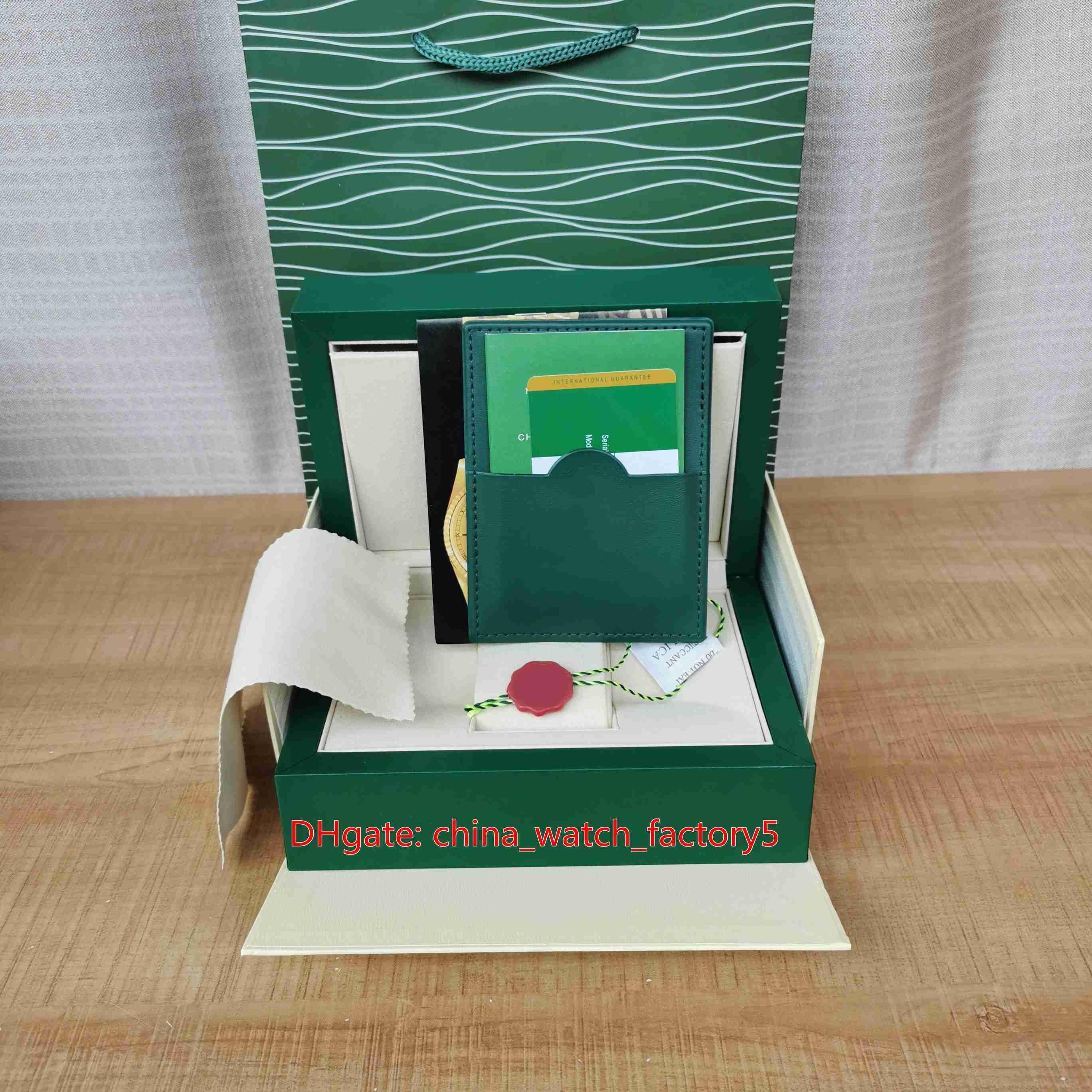حار بيع عالية الجودة الصناديق الساعات الدائمة الأخضر مربع بطاقة مربع الأصلي للرئيس cosmograph 116500 126610 بتوقيت جرينتش 126710 126711 مشاهدة المعصم