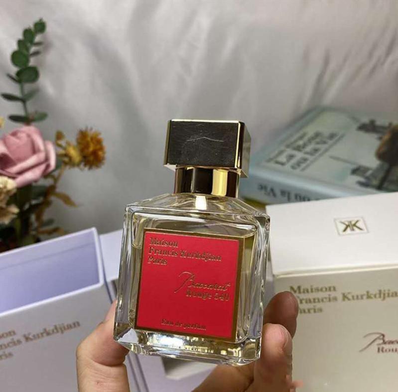 Top Fragrância Maison Francis Kurkdjian Baccarat Rouge 540 Extrait de Parfum Neutro Oriental Fragrâncias Florais 70ml EDP Alto Desempenho