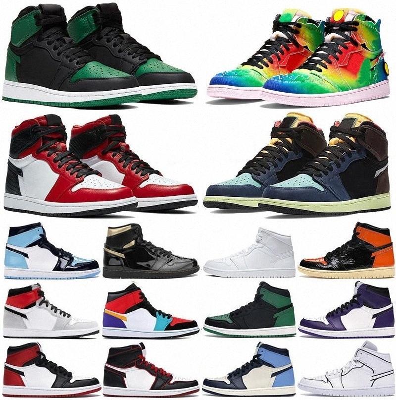 1 Высоко 1S Boots Баскетбольные Обувь 1S Mid Royal Toe Черный Металлический Золотой ГОЛД Трэ Трэ Темные Mocha UNC Патент Mens Женские Кроссовки Тренеры Shoenqzs #