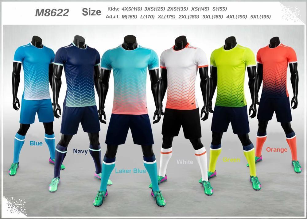Personalizado Adulto Kids Soccer Jersey Jogo M8622 Jogo de Futebol Homens Futbol Futbol Formbol Formação Set De Foot Equipe personalizada