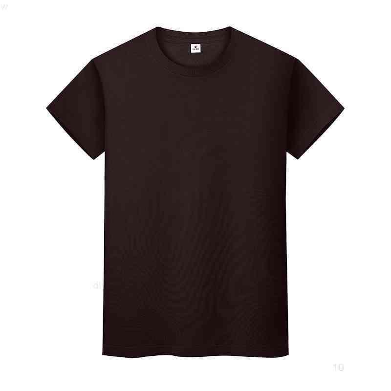 Yeni Yuvarlak Boyun Katı Renk T-shirt Yaz Pamuk Dip Gömlek Kısa Kollu Erkek Ve Bayan Yarım Kollu Iizfii