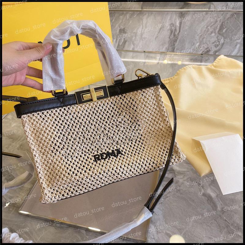 عارضة حمل النساء المصممين المصممين حقائب الكتف الأزياء الصيف العشب جديلة كبيرة حقائب اليد المرأة حقائب اليد حقيبة crossbody 2021