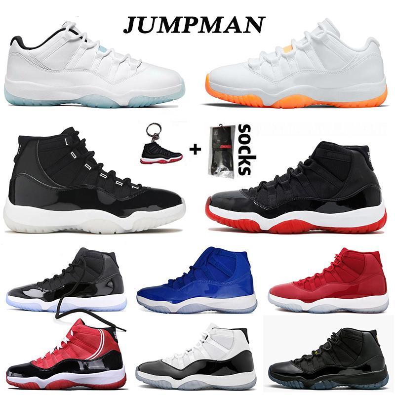 أحذية retro 11 aj 11s XI 25th Anniversary low احذية كرة السلة Concord Bred HIGH Space Jam Cap and Gown Gamma Blue Jumpman 23 الرجال النساء Sneakers Trainers