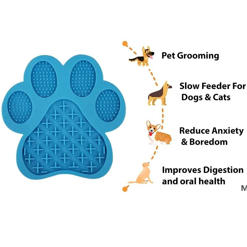 Dog Lick Mat Slow Feeder Bathing Distraction Pads with Suction Cup for Treats,Anxiety Relief,Grooming,Pet Training DHE5710
