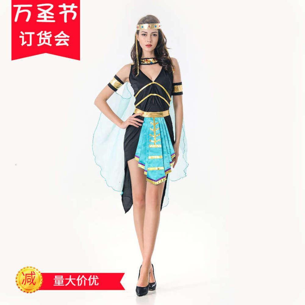 Повседневные платья Игра Униформа Костюмы для 2021 Хэллоуин Партия Королева Клеопатра Стадия Костюм