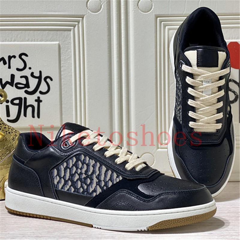 B27 Sneaker Low-Top Sneaker oblique Scarpe da uomo Liscio Velfskin Lussurys Designer Sneakers Sneakers Lace-up Suola in gomma tecnica 27 Scarpa casual in pelle
