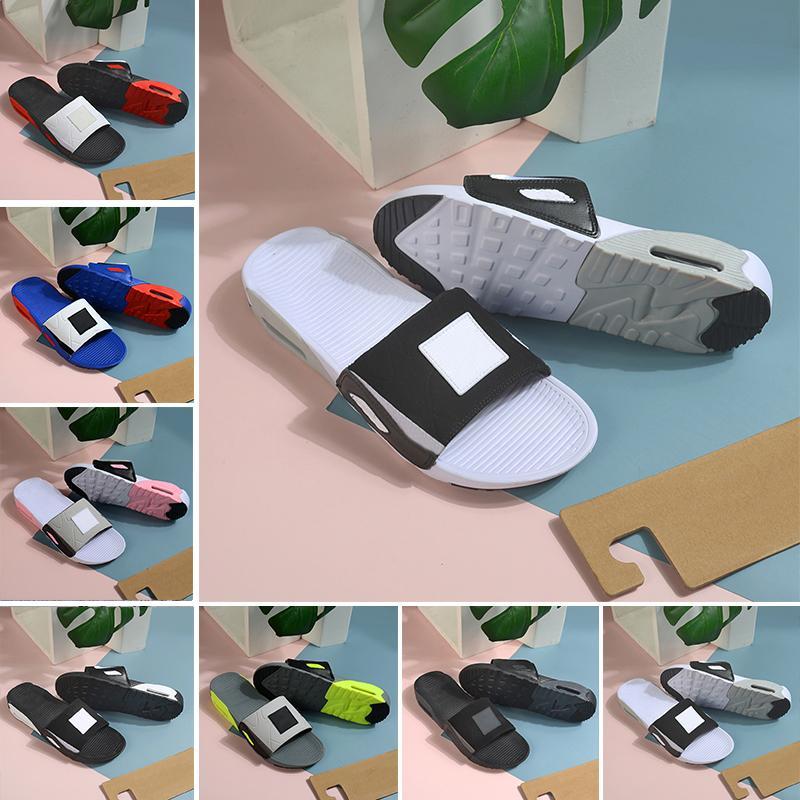 Nike Air Max 90 Männer Frauen Slide Slipper Mode Slides 90er Jahre Triple Black White Grey Outdoor Herren Flat Flip Flops Strand Hotel Plattform Sandalen 36-45
