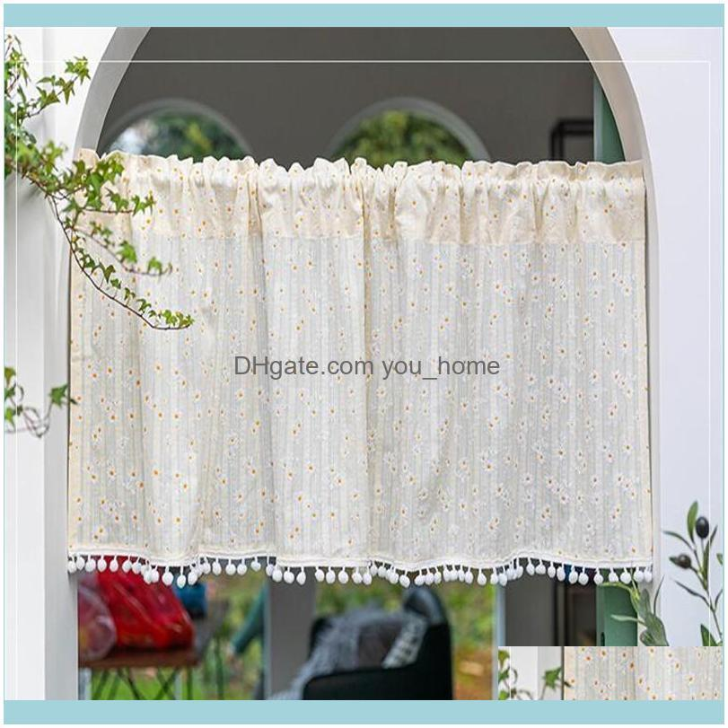 Deco El Supplies Home & Gardenquality Pastoral Little Flower Curtain Lovely Lace Coffee Shades Kitchen Short Small Closet Drapes Purdan Vala