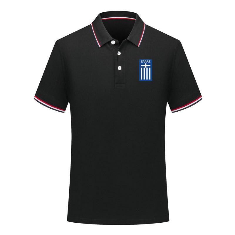 Trendy Yunanistan Ulusal Takım Futbol erkek Polo Gömlek Futbol Kısa Kollu Gömlek Yaz Moda Eğitim Polo Tops