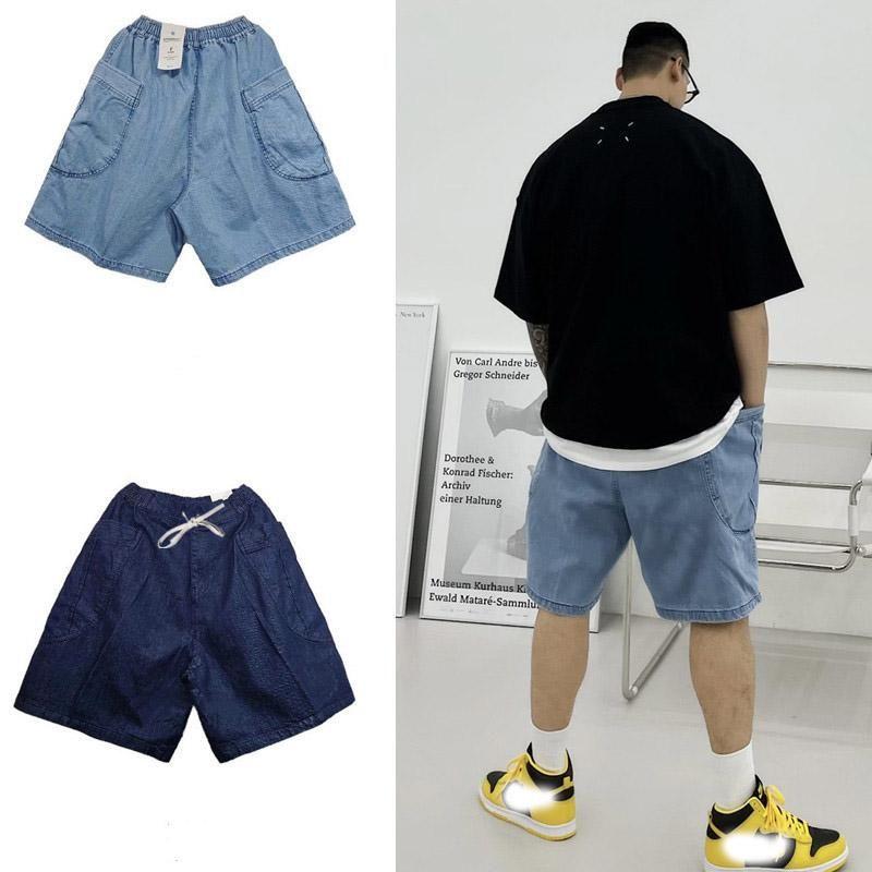 Jeans masculinos 2021 versão coreana do verão High Street Tendência lavada denim shorts casuais esportes soltos de cinco pontos