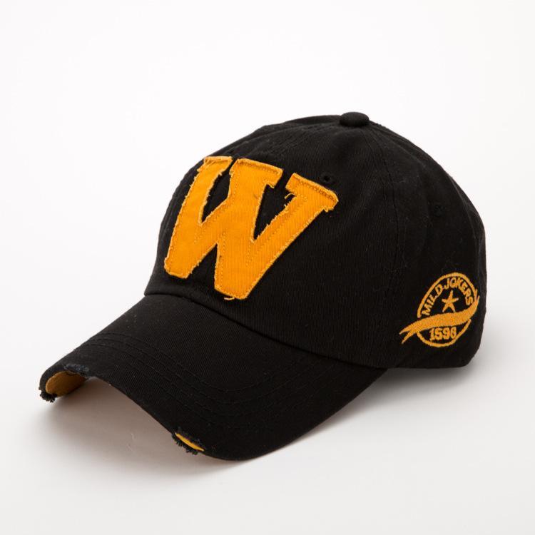W Letter vintage baseball cap hip hop coppia cappello all'aperto moda traspirante casual cappelli da parasole