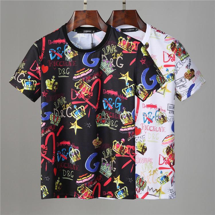 2021 범죄 여성 패션 티셔츠 남성 의류 스트리트 디자이너 반팔 옷 20 SS 럭셔리 코튼 브랜드