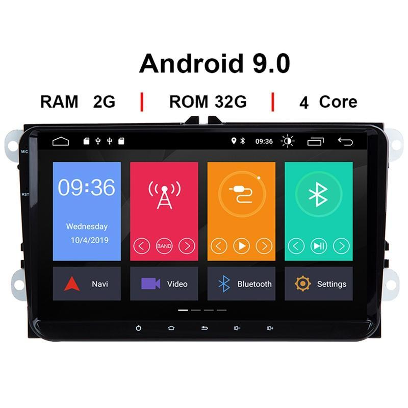 & MP4 Players 2 Din Android 9 Car Multimedia GPS Navigation For Amarok Passat B6 Golf 56 Skoda Octavia Superb Seat Leon Radio
