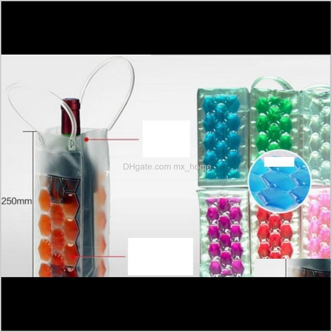 Cubos y refrigeradores Bolsas Bebidas PVC Bolsa de cerveza Portátil Portátil Doble Side Hielo Enfriador Cooler Portador Viajes F WMTBBM WMHBV ZFIFR