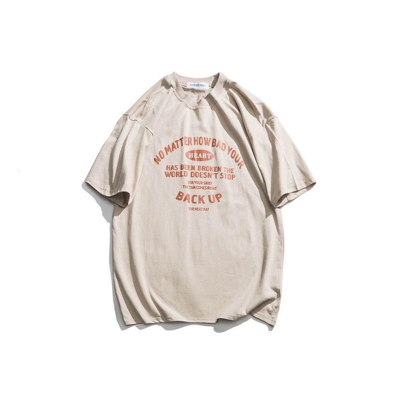 HeyHenry Oversize Women's Men's Designer T Shirts T-shirt shirt Couples Casual Simplicity Short ins sleeve Nostalgia Fashion Letters Printing Luxury M-XL