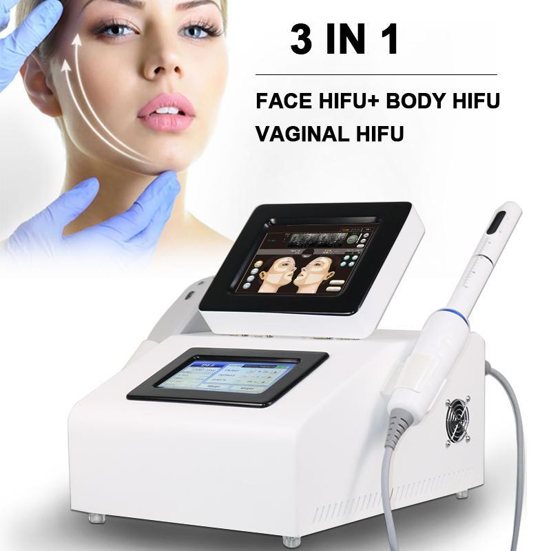 RF HIFU الوجه رفع آلة تشديد المهبل علاج الجسم التخسيس الجلد تجديد معدات التجميل 10000 الطلقات / خرطوشة