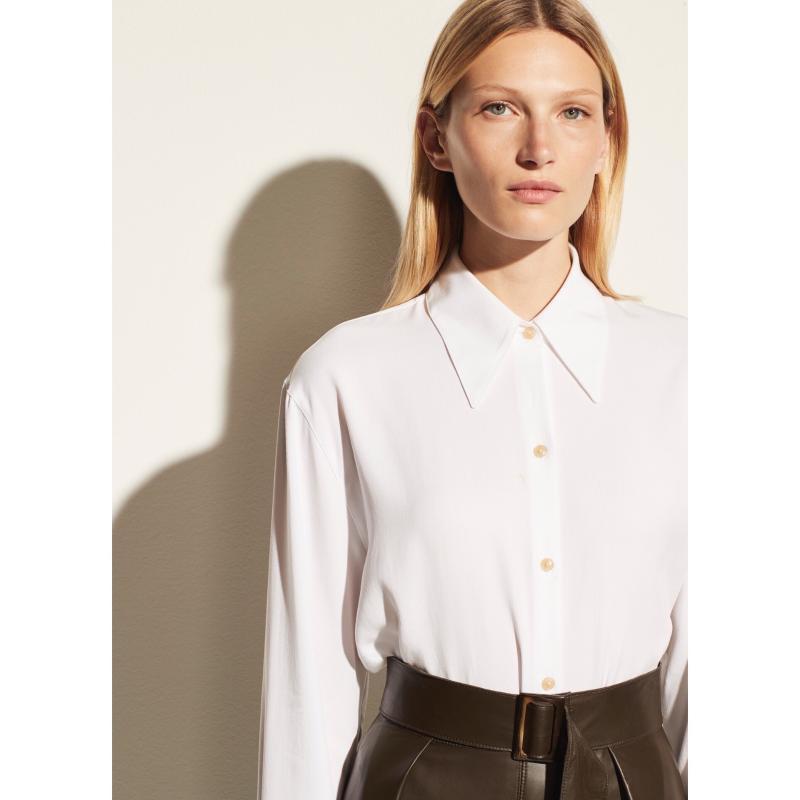 Reine Baumwolle All-Match-weißes Hemd Klassiker Einfache Design Pendler Top Frauen Exquisite Rundete Ecken Kleine Revers-Blusen Damen Frauen SH