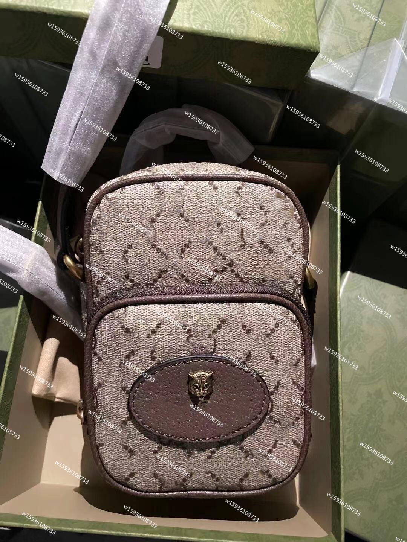 2021 Klasik Cep Telefonu Kadın Moda Messenger Çanta Yüksek Kalite Çapraz Vücut Çanta Luxurys Tasarımcılar Bir Omuz Çantaları Bayanlar Para Kart Çanta Flap Cüzdan