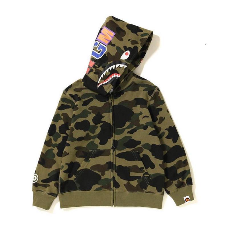 Sudadera con capucha para hombres Beii Style Children's Shark Coat wo Largo otoño e invierno camuflaje trend sweater con capucha 1 0aqb