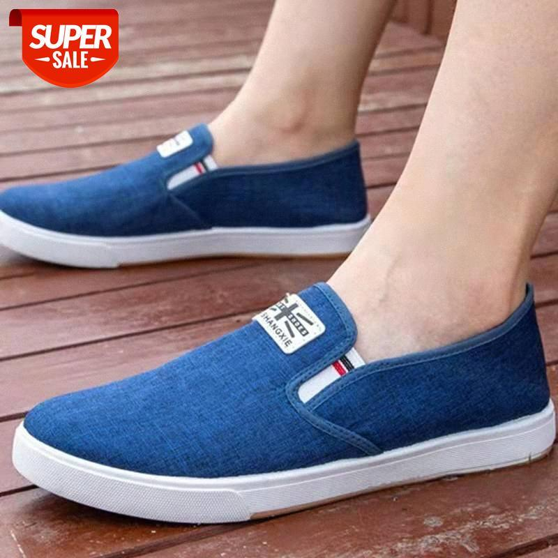 Yeni eski Pekin bez ayakkabı, yaz erkek tek düşük üst nefes casual tuval tembel ayakkabı # ma4t